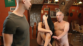 DADDY4K. Old dad seduces incomparable dark be alive girl space fully son..