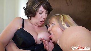 AgedLovE, Busty Matures Enjoying Hard Group Sex
