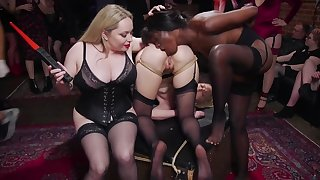 Chicks choose to be nailed in BDSM basement like whores
