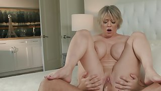 This dirty stepmom knows how to handle that hard pecker