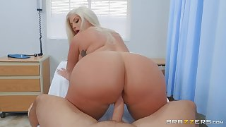 big buxom MILF Julie Cash rides hard crave dick of Keiran Lee