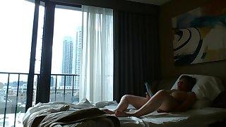 Voyeur hotel window public masturbation hard by MarieRocks