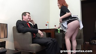 Busty and horny ladies are ready for unforgettable threesome in the office