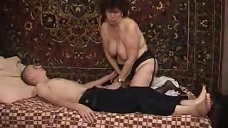Doing a ambrosial granny who can't realize enough be proper of his young cock