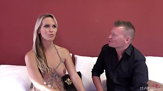 MILF Julia Pink gets brutally pounded by a handful of lucky dude