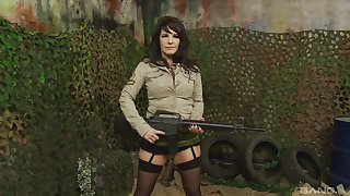 Military MILF pornstar indulge Killer-diller from Manila Rock pounded by twosome guys