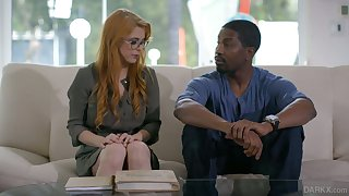 Ginger milf with perfectly shaped convention Penny Pax goes black for the first time