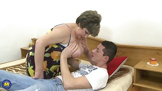Big babe Carmela wants nothing more than a young pecker