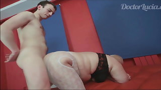 Russian BBW Grown up drab loves young boys