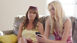 Horny MILF lesbian pornstars Elexis Monroe and Kenna James