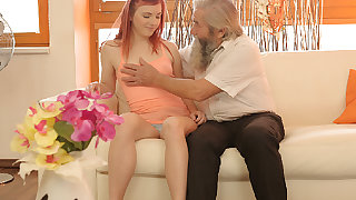 DADDY4K. Superb young savors fingering from both...