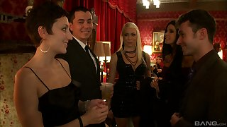 India Summer and her horny friends in an intense orgy