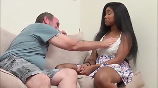 hefty melon and culo dark-hued damsel screwed by hottest mate daddy