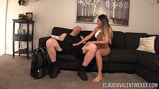 Bouncing on a monster cock is what Claudia Valentine loves the most