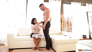Sheila Ortega bounces say no to big ass on a cock and gets cum on say no to face