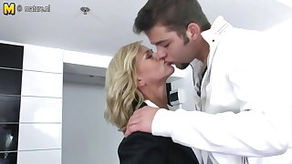 Mother getting fucked by will not hear of son's friend