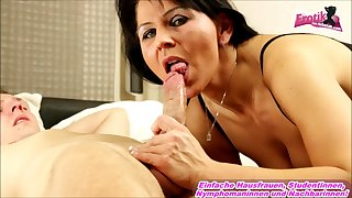 german big natural tits mom in catsuit homemade
