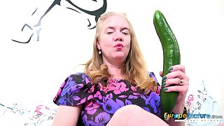 Solo Mature Lily May and her big toy in her horny nasty pussy