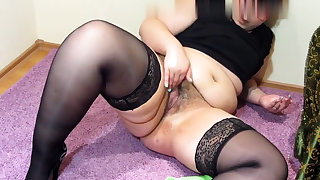 Busty blonde mature solo masturbation for webcam