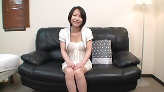 Brunette Asian with a hairy hole to enjoy